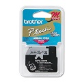 Brother M931 Original P-Touch Label Tape - 1/2 x 26.2 ft (12mm x 8m) Black on Silver