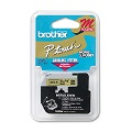 Brother M821 Original P-Touch Label Tape - 3/8 x 26.2 ft (9mm x 8m) Black on Gold