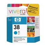 HP 38 Cyan Pigment Original Inkjet Print Cartridge with Vivera Ink (C9415A)