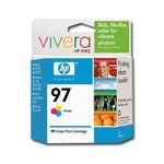 HP 97 Tri-Color Original High Capacity Inkjet Print Cartridge with Vivera Inks (C9363WN)