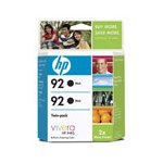 HP 92 (C9512FN) Original Black Ink Cartridge (Twin Pack)