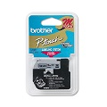 Brother M921 Original P-Touch Label Tape - 3/8 x 26.2 ft (9mm x 8m) Black on Silver