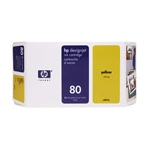 HP 80 Original Yellow Ink Cartridge (C4848A)