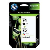 HP 74/75 (CC659FN) Original Black And Tri-Color Combo Pack
