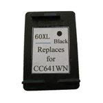 HP 60XL Remanufactured Black High Capacity Ink Cartridge (CC641WN)