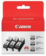 3 pack of PGI-220 (2945B004) Black Ink Cartridges