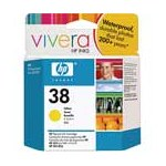 HP 38 Yellow Pigment Original Inkjet Print Cartridge with Vivera Ink (C9417A)