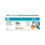 HP Q2612AD Original Black Laser Toner Cartridge (Twin Pack)