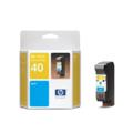 HP 40 Cyan Original Inkjet Print Cartridge (51640C)