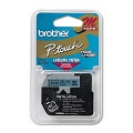Brother M521 Original P-Touch Label Tape - 3/8 x 26.2 ft (9mm x 8m) Black on Blue