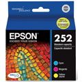 Epson T252 Cyan/Magenta/Yellow Original Standard Capacity Ink Cartridges - MultiColor Pack (T252520)