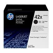 HP 42X (Q5942XD) Original Black High Capacity Laser Toner Cartridge (Twin Pack)
