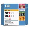 HP 70 (CB347A) Original Red Ink Cartridge (Twin Pack)