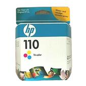 HP 110 Tri-Color Original Inkjet Print Cartridge with Vivera Inks (CB304AN)