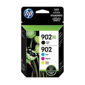 HP 902XL/902 (T0A39AN) Black and Color Original Ink Cartridge Multipack (4 Pack)