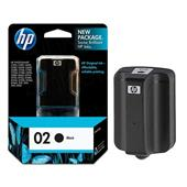 HP 02 Black Original Ink Cartridge with Vivera Ink  (C8721WN)
