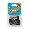 Brother M831 Original P-Touch Label Tape - 1/2 x 26.2 ft (12mm x 8m) Black on Gold