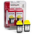 Lexmark Twin-Pack No. 20 (15M1375) Color Original Print Cartridge