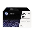 HP 05A Black Original Toner Cartridges (Twin Pack)