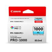 Canon PFI-1000PC Photo Cyan Original Ink Cartridge (0550C001)