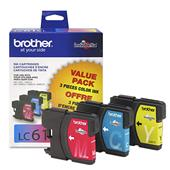 Brother LC613 Original Color Standard Capacity Cartridge Triple Pack ( Cyan Magenta Yellow)