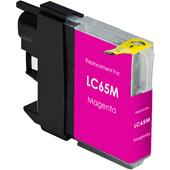 Brother LC65 Compatible High Yield Magenta Printer Ink Cartridge