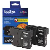 Brother LC65 Original Black Cartridge Double Pack