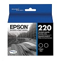Epson DURABrite Ultra 220 Black Ink Cartridges -Twin Pack (T220120-D2)