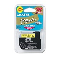 Brother MK631 Original P-Touch Label Tape - 1/2 x 26.2 ft (12mm) Black on Yellow