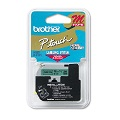Brother M731 Original P-Touch Label Tape -  1/2 x 26.2 ft (12mm x 8m) Black on Green