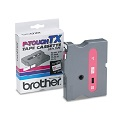 Brother TX2321 Original P-Touch Label Tape - 1/2 x 50 ft (12mm x 15m) Red on White