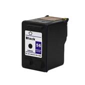 HP 56 Black Remanufactured Printer Ink Cartridge (C6656AN)