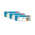 HP 91 (C9485A) Original Yellow Ink Cartridge (3 Pack)