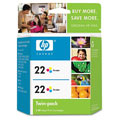 HP 22 Tri-Color Original Inkjet Print Cartridge (CC580FN) Twin Pack
