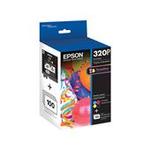"Epson T320P Color Original Ink Cartridge with 100 6"" x 4"" Photo Paper Sheets"