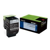 Lexmark 80C1HK0 Black Original High Capacity Return Program Toner Cartridge