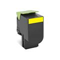 Compatible Yellow Lexmark 80C1SY0 Standard Yield Toner Cartridge
