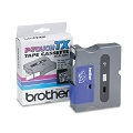 Brother TX1411 Original P-Touch Label Tape - 3/4 x 50 ft (18mm x 15m) Black on Clear