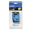 Brother TC7001 Original P-Touch Label Tape - 1/2 x 25.2 ft (12mm x 7.7m) Black on Yellow