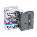 Brother TX2511 Original P-Touch Label Tape - 1 x 50 ft (24mm x 15m) Black on White