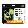HP 934XL/935 Black and Standard C/M/Y Color High Capacity Ink Cartridges Combo Pack