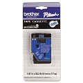 Brother TC6001 Original P-Touch Label Tape -  1/2 x 25.2 ft (12mm x 7.7m) Black on Blue