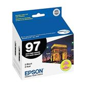 Epson T0971 (T097120-D2) Original Extra High-Capacity Black Ink Cartridge - Twin Pack