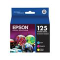 Epson 125 (T125520) Cyan Magenta Yellow Original Standard Capacity Ink Cartridges - 3 Pack