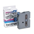 Brother TX7311 Original P-Touch Label Tape - 1 x 50 ft  (24mm x 15m) Black on Blue