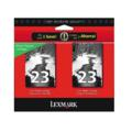 Lexmark No.23 (18C1598) Original Black Ink Cartridges 2-Pack