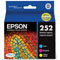 Epson 252 Cyan/Magenta/Yellow Original Standard Capacity Ink Cartridges - Multi Color Pack (T252520)