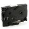 Brother TZe-121 Compatible P-Touch Label Tape - 3/8 in x 26 ft (9mm x 8m) Black on Clear