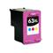 HP 63XL Color Remanufactured High Capacity Ink Cartridge (F6U63AN)