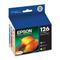 Epson 126 (T126520) Cyan Magenta Yellow Original High Capacity Ink Cartridges - 3 Pack